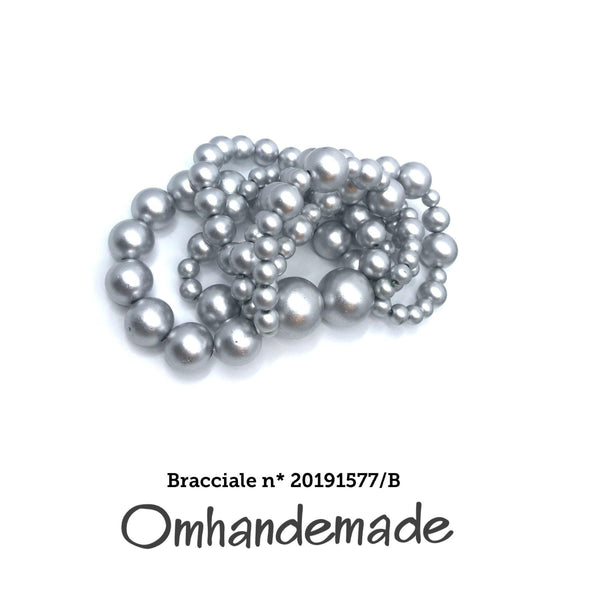 20191577/B Bracciale perle argentate - Omhandemade