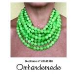 20181318 Collana bavaglino verde lime - Omhandemade