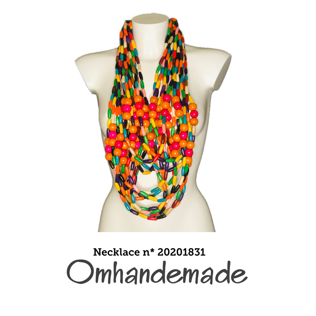 20201831 Collana lunga chanel multicolor - Omhandemade
