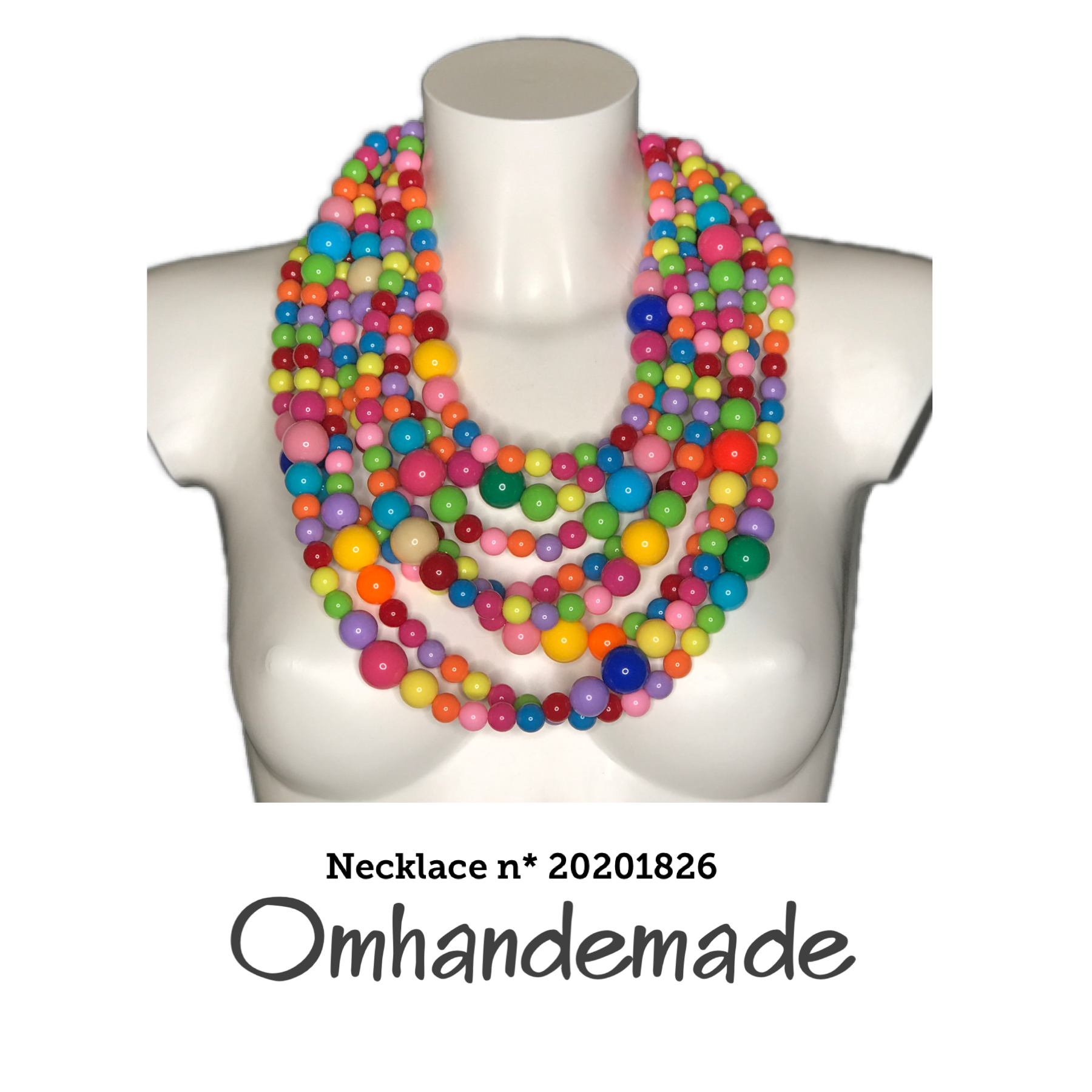 20201826 Collana media multicolor - Omhandemade