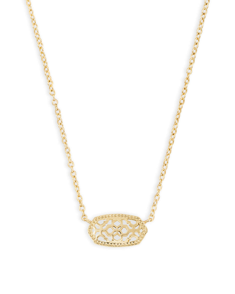 Kendra Scott Elisa Gold Pendant Necklace In Gold Filigree
