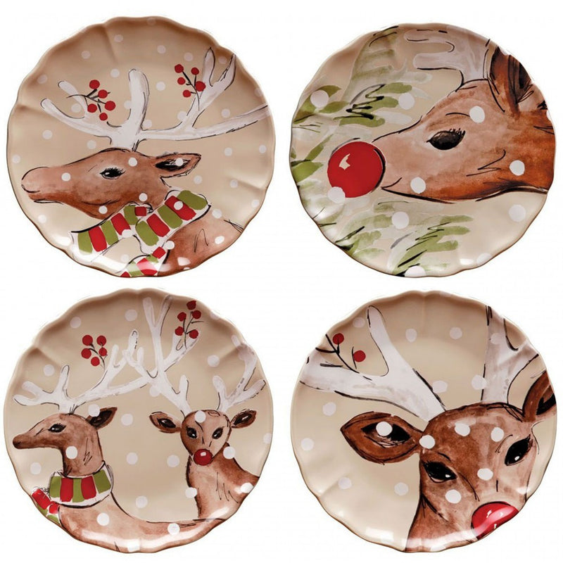 Casafina Deer Friends Salad Plates