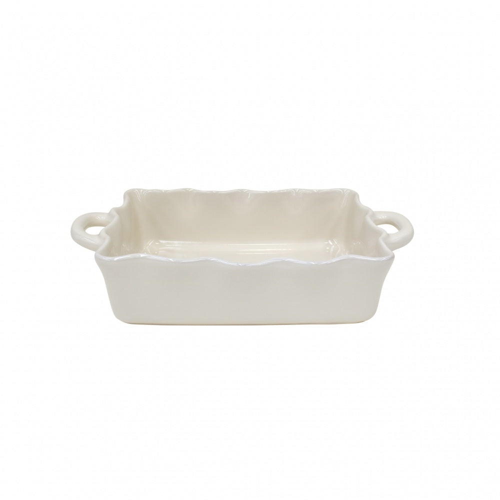 CASAFINA COOK AND HOST MEDIUM RECTANGULAR RUFFLED BAKER