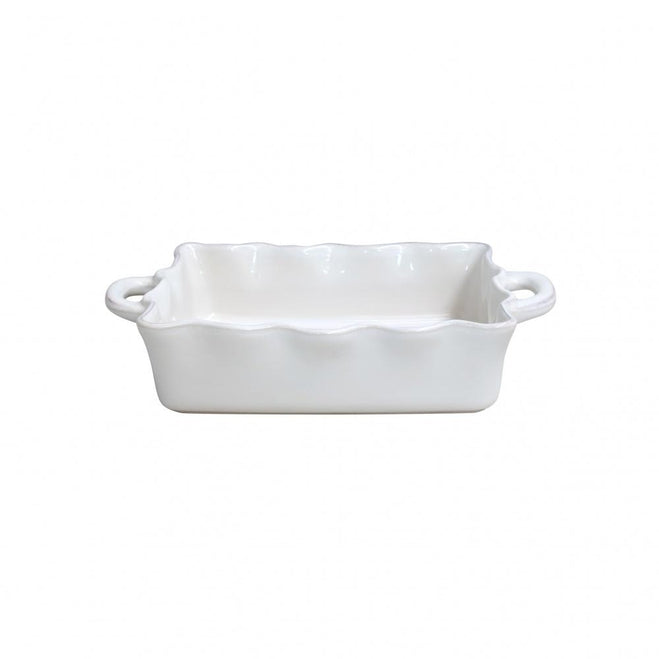 CASAFINA  COOK & HOST MEDIUM RECTANGULAR RUFFLED BAKER