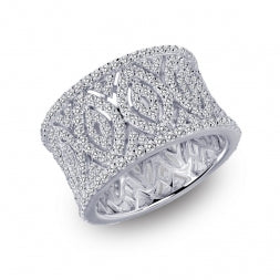 LAFONN Dazzling Thick Band Ring