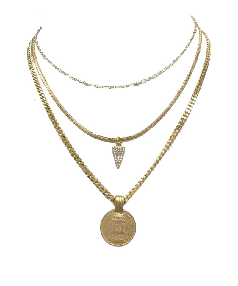 Farrah B 3 Layer Queen Necklace