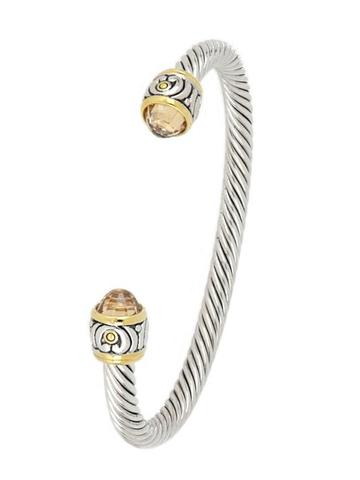 John Medeiros Nouveau Small Wire Cuff Bracelet in Champagne
