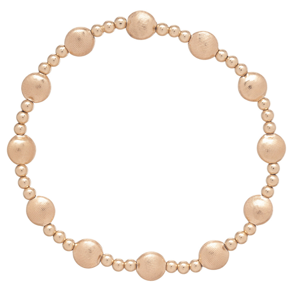 enewton Honesty Gold Sincerity Pattern 6mm Bead Bracelet - Gold