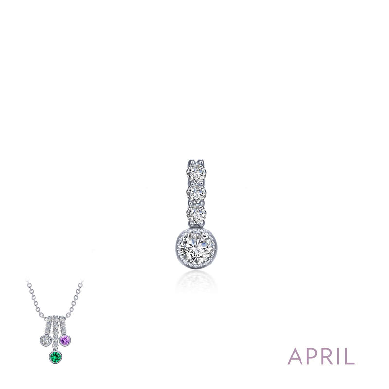 Lafonn April Birthstone Love Pendant