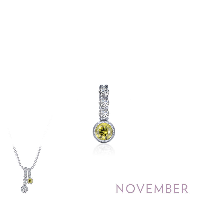 Lafonn November Birthstone Love Pendant