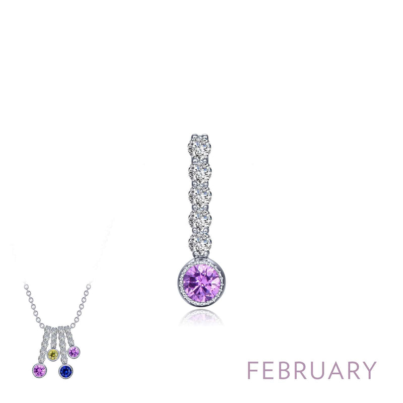 Lafonn February Birthstone Love Pendant (large)