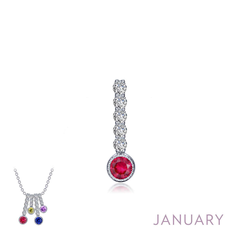 Lafonn January Birthstone Love Pendant (large)