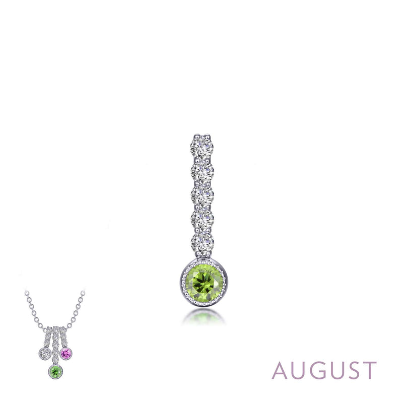 Lafonn August Birthstone Love Pendant (large)