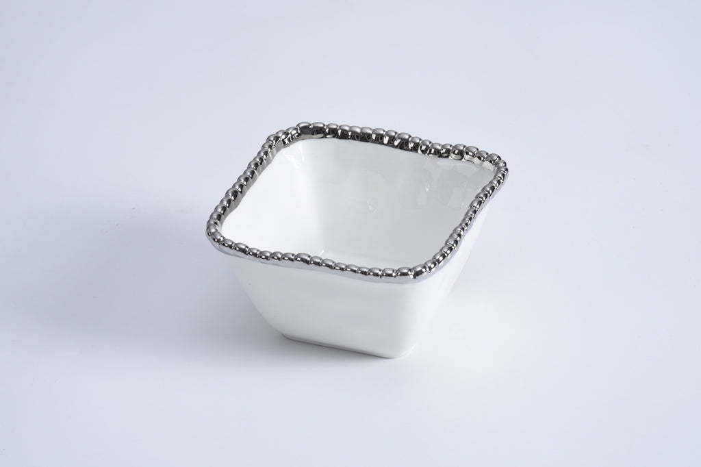 SQUARE PORCELAIN SNACK BOWL