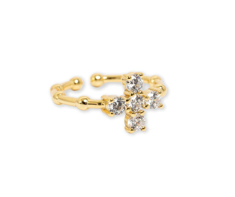 Bracha Baguette Cross Ring
