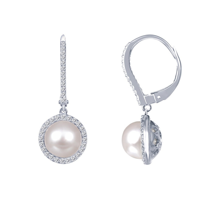 Lafonn Cultured Freshwater Pearl Dangle Earrings