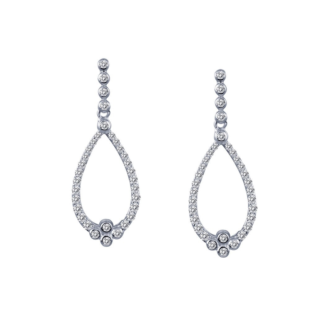 Lafonn Charming Drop Hoop Earrings