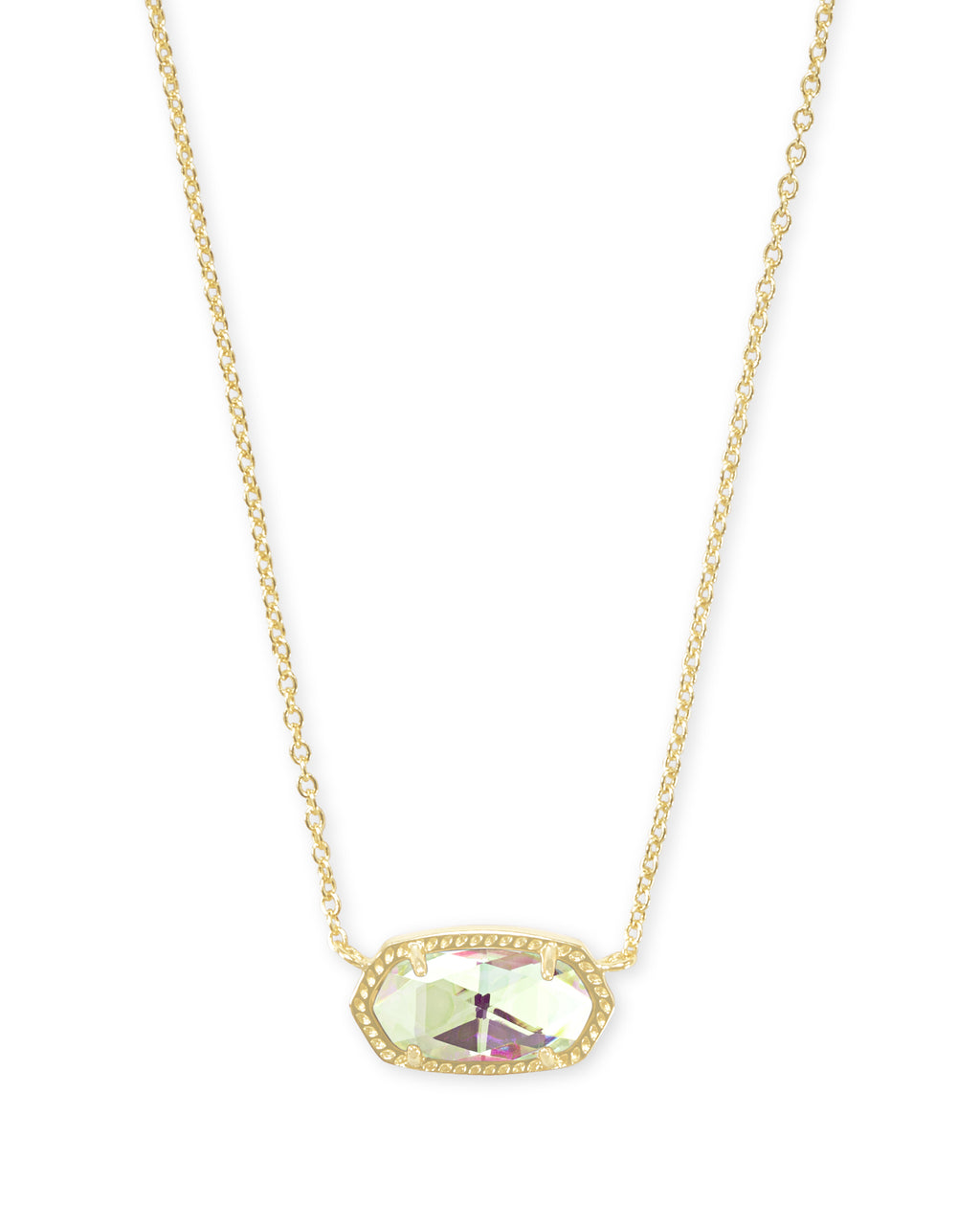 Kendra Scott Elisa Gold Pendant Necklace In Dichroic Glass