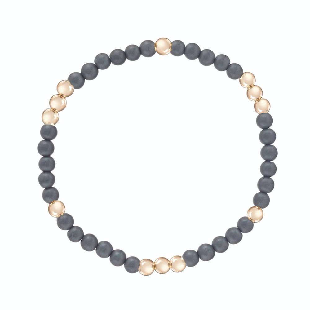 enewton Worthy Pattern 4mm Bead Bracelet in Pyrite