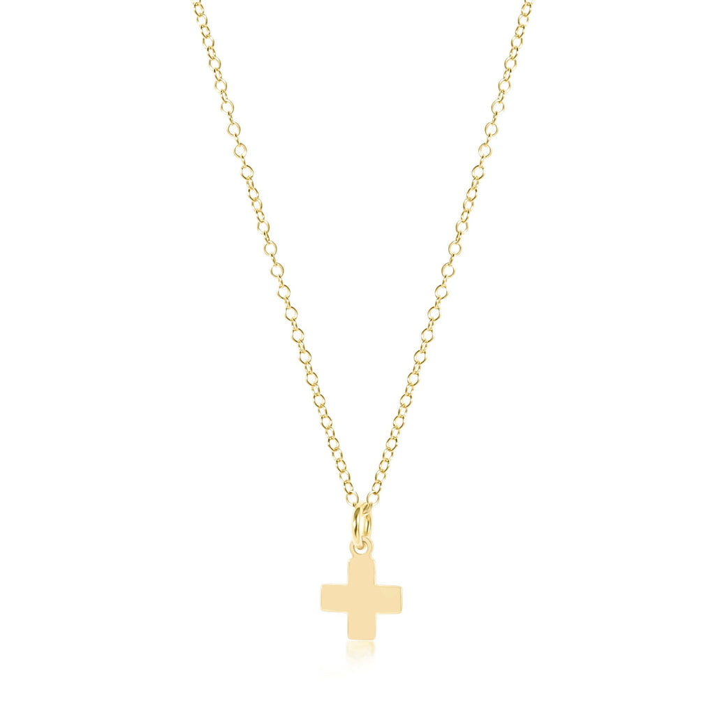 "enewton 16"" Necklace Gold - Signature Cross Gold Charm"