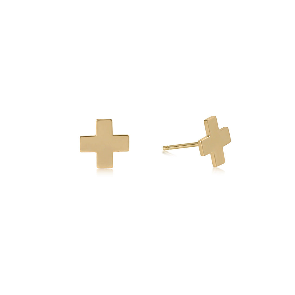 enewton Signature Cross Stud - Gold