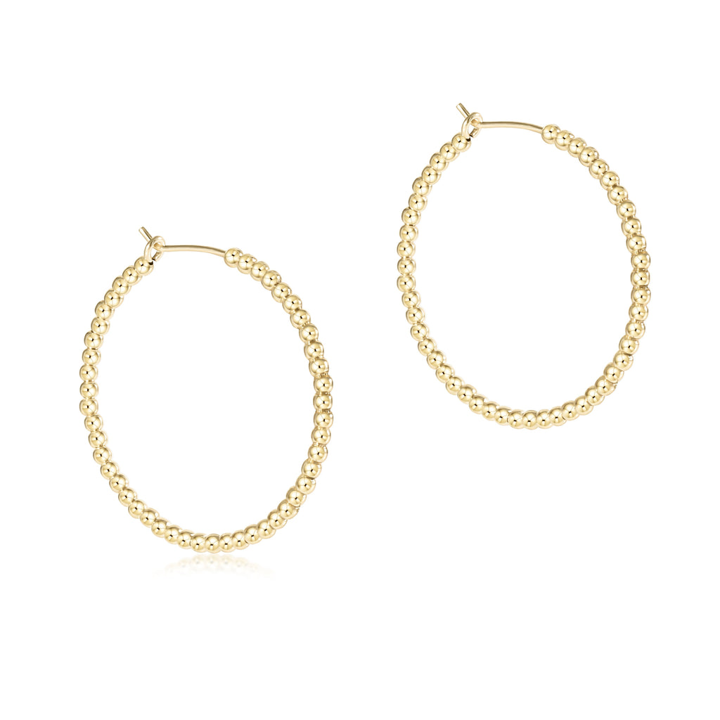 "enewton Beaded Gold 1.25"" Hoop - 2mm Bead Gold"
