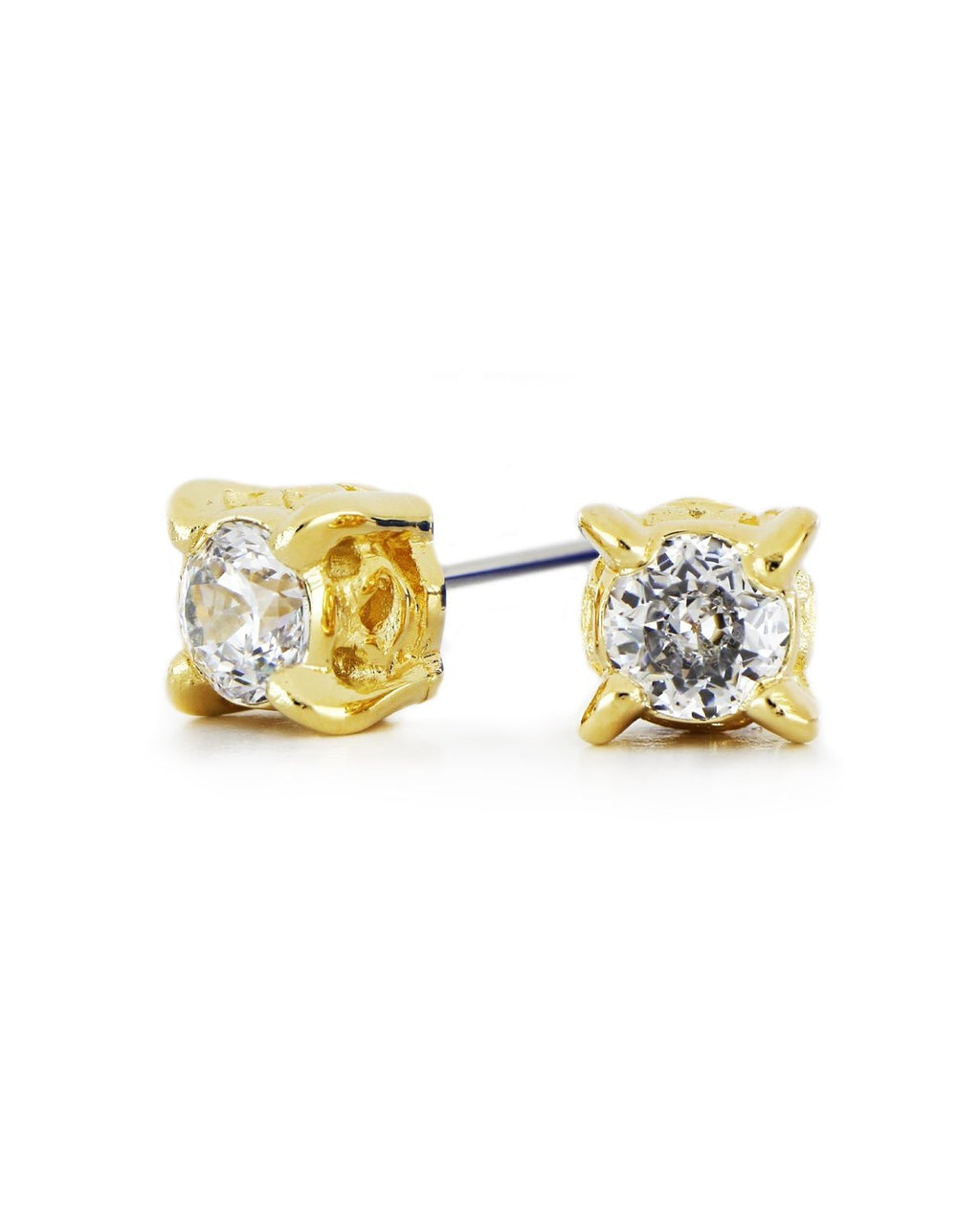John Medeiros Diamante 1.5 Carat Gold Stud Earrings