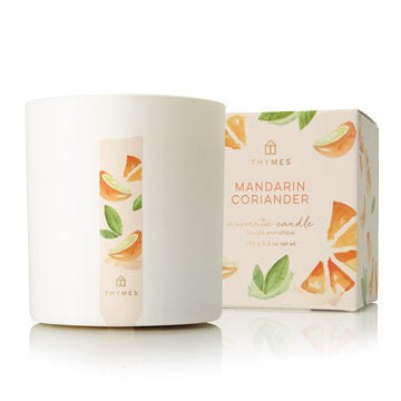 THYMES MANDARIN CORIANDER SMALL CANDLE