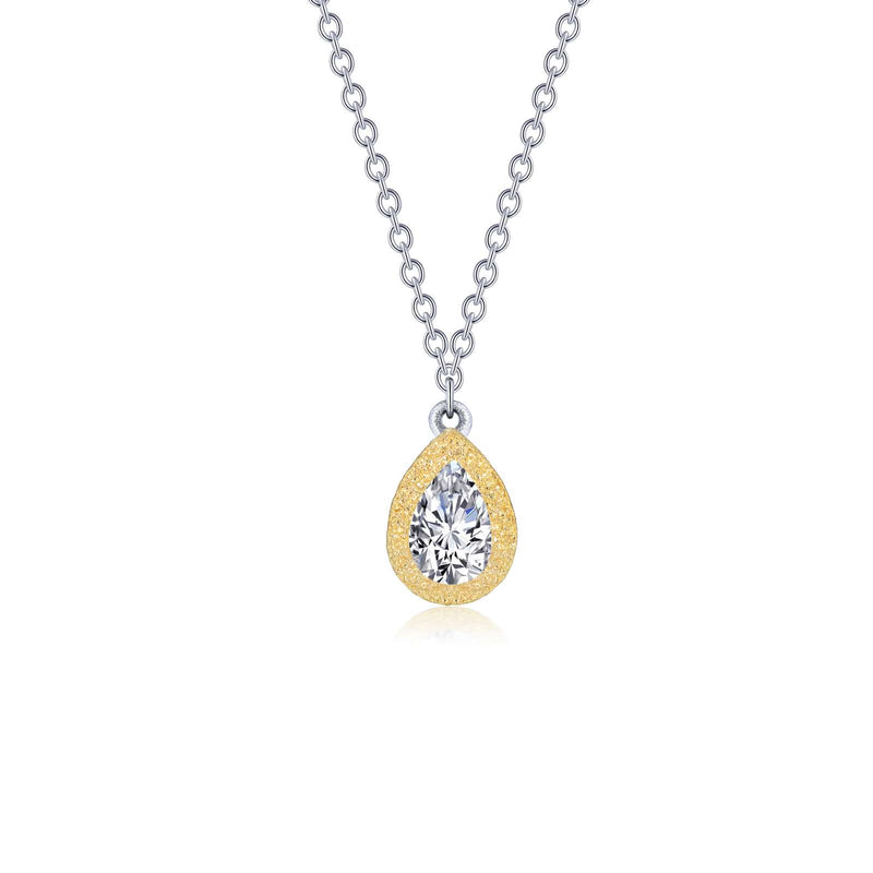 Lafonn 0.55 ct tw Solitaire Pear Necklace