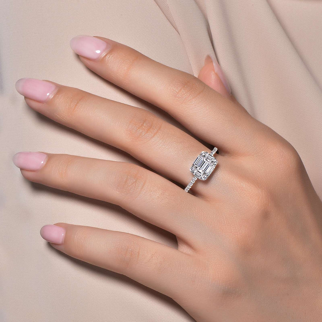 Lafonn Baguette Engagement Ring