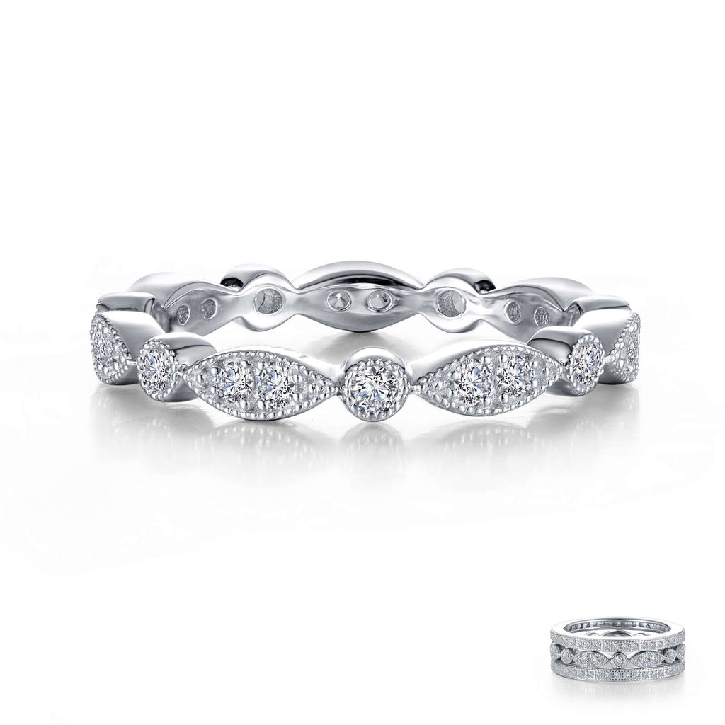Lafonn Stackable Wave Eternity Band