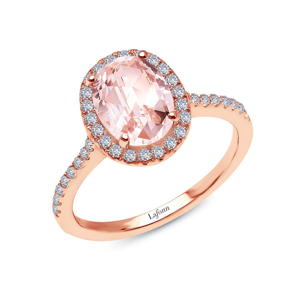 Lafonn 2.26 CTW Halo Rose Gold Engagement Ring