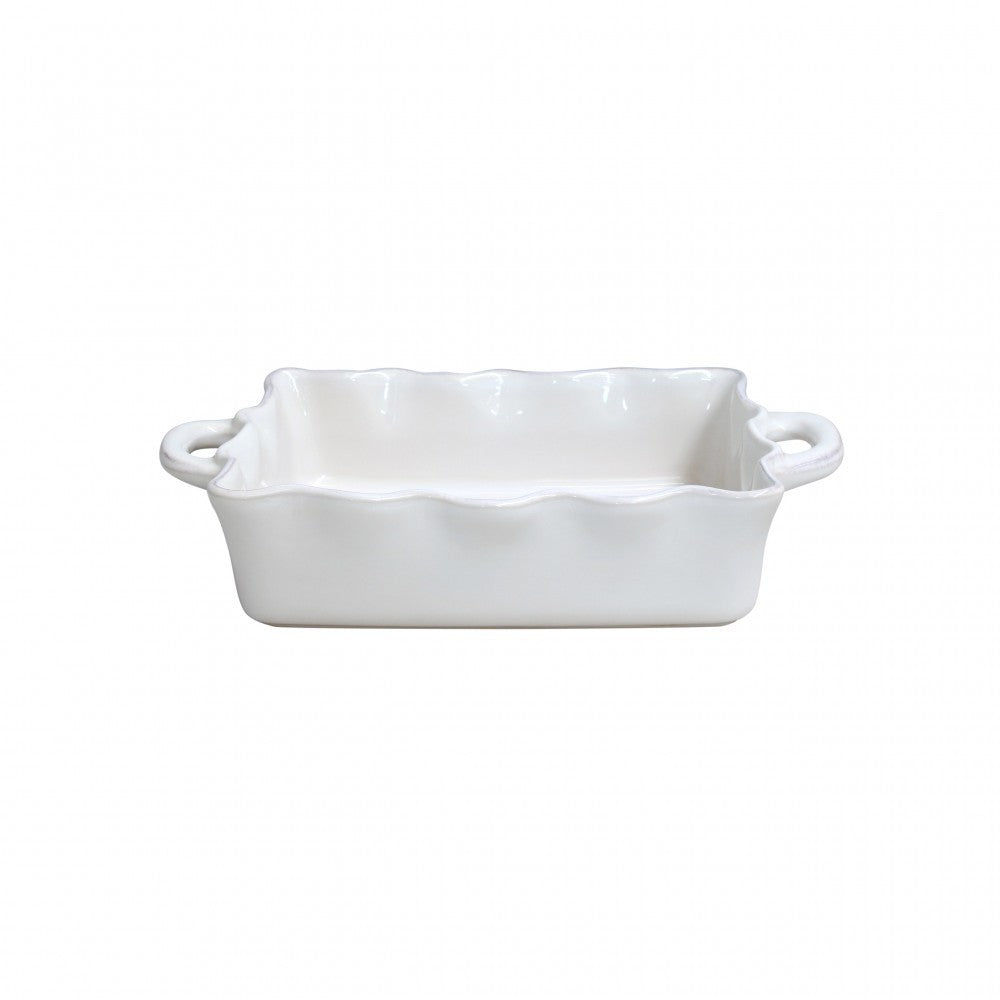 CASAFINA COOK AND HOST MEDIUM RUFFLED RECTANGULAR BAKER