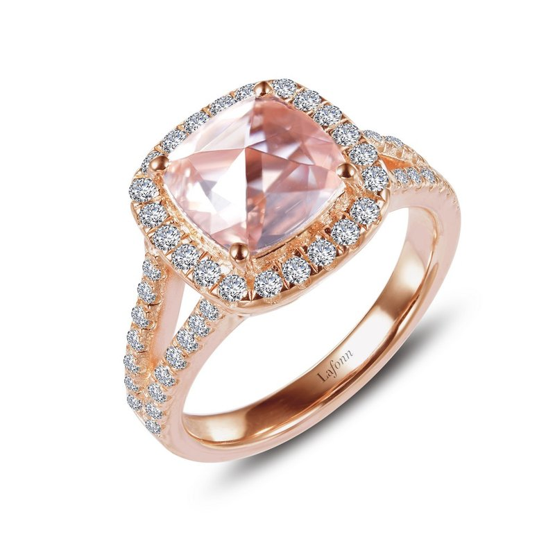 Lafonn Square Rose-Cut Halo Engagement Ring