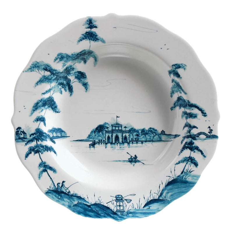 Juliska Country Estate Delft Blue Pasta/Soup Bowl (Boathouse)