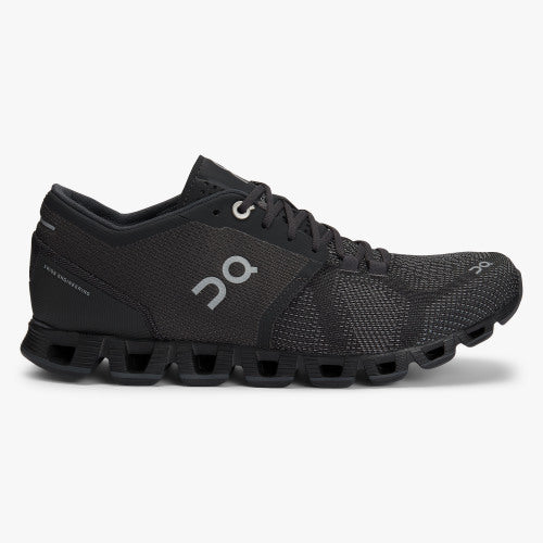 Women's On Cloud X in Black/Asphalt