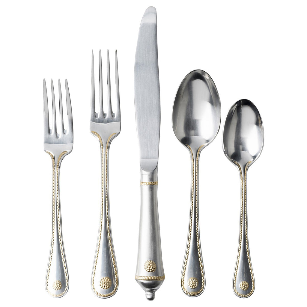 Juliska Berry and Thread Flatware with Gold Accents