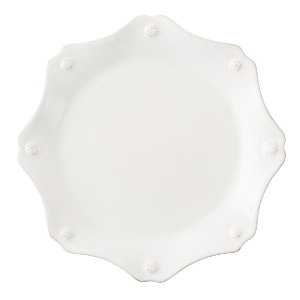 JULISKA BERRY AND THREAD WHITEWASH SCALLOPED SALAD PLATE