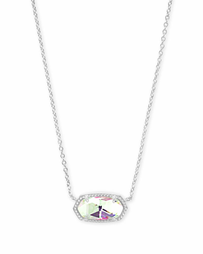 Kendra Scott Elisa Silver Pendant Necklace In Dichroic Glass