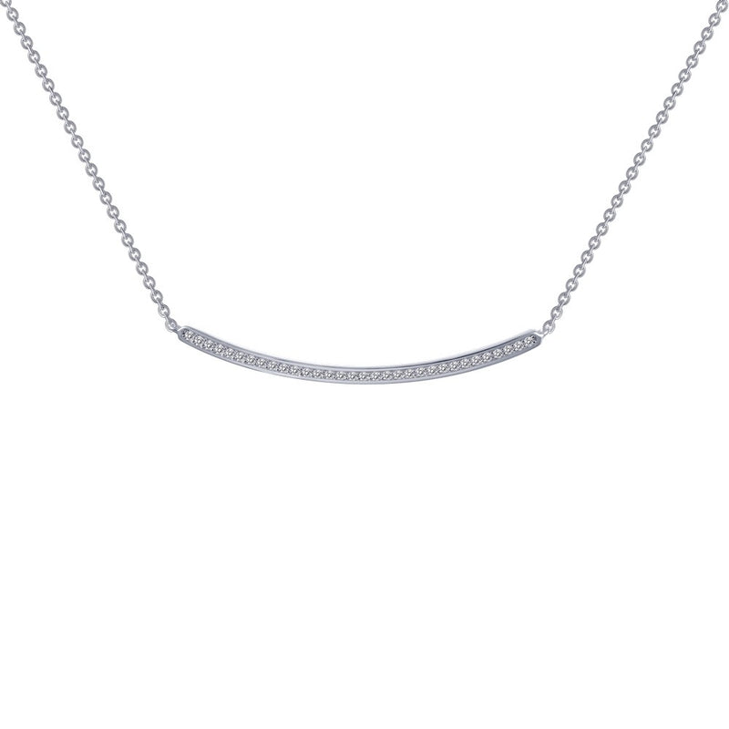 Lafonn .32 ct tw Curved Bar Necklace
