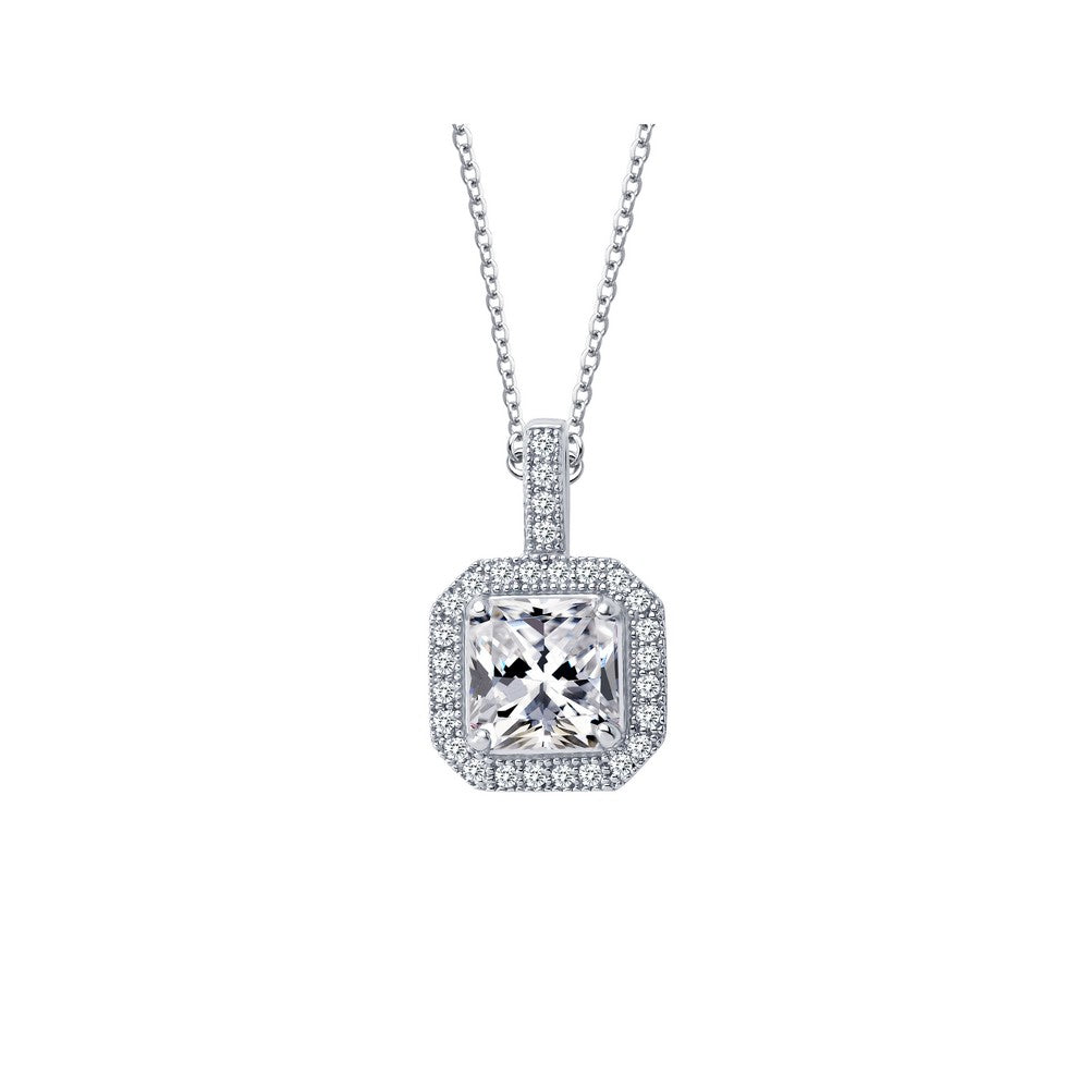 Lafonn 1.52 ct tw Halo Pendant Necklace
