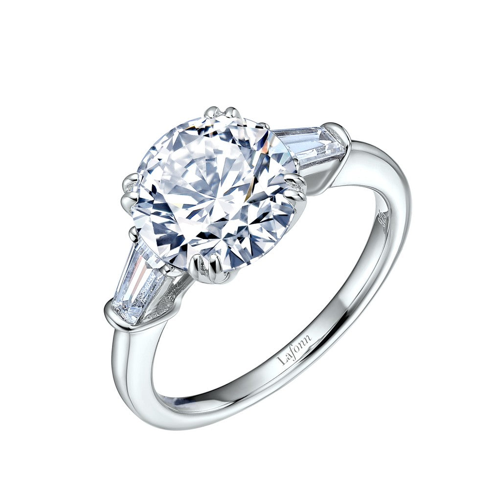 Lafonn Classic Three-Stone Engagement Ring