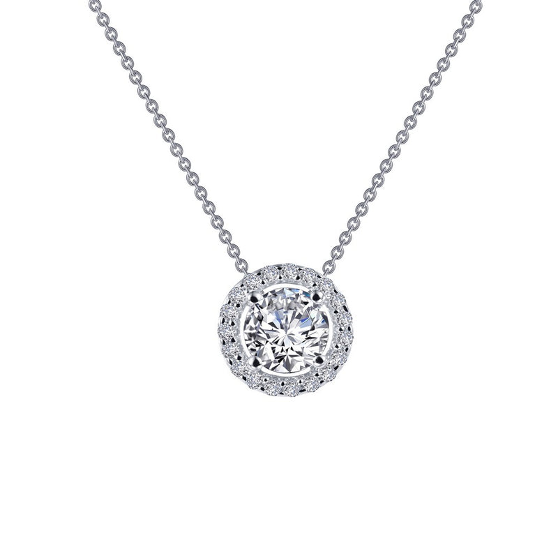Lafonn 0.62 ct tw Round Halo Necklace