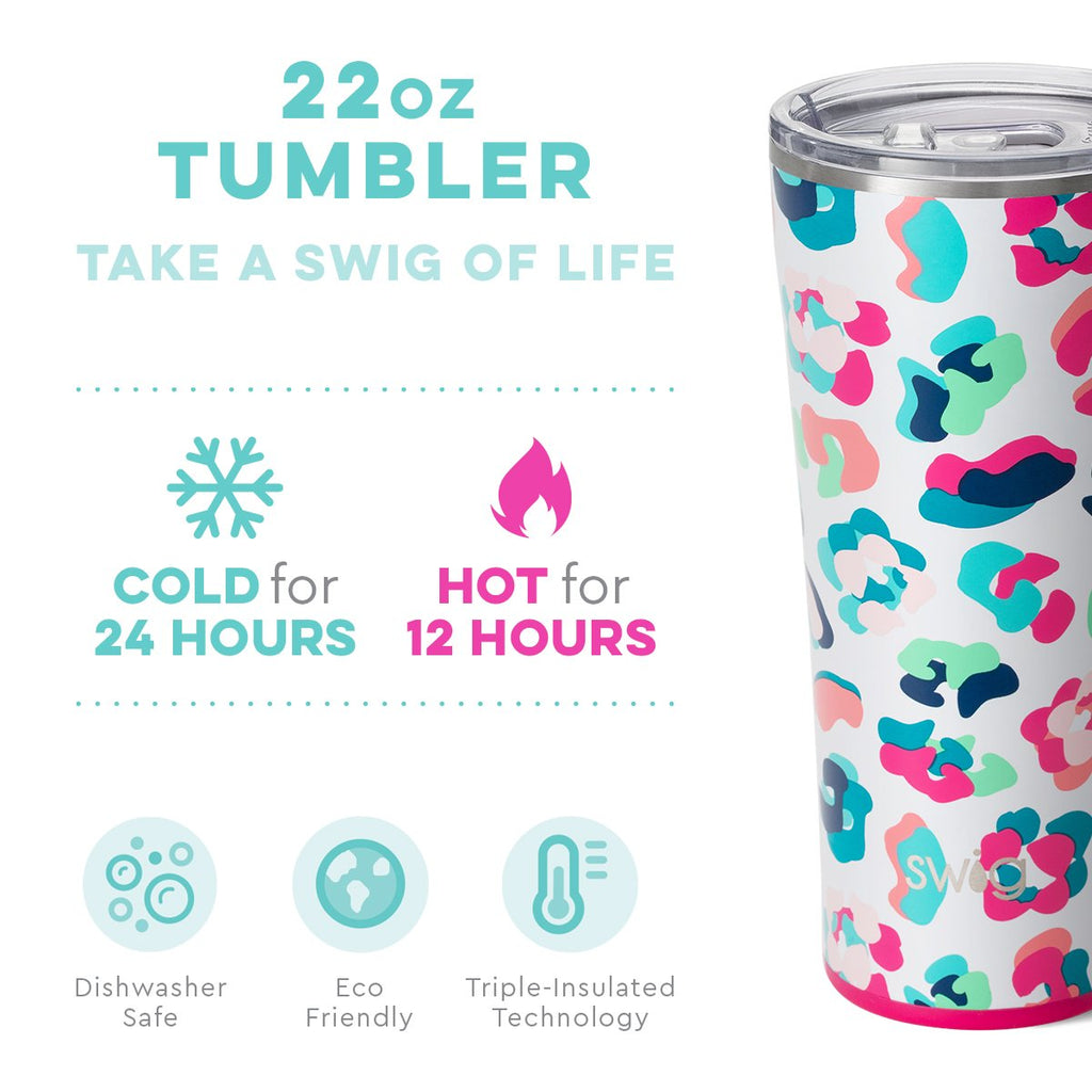 Swig 22 oz Tumblr in Party Animal