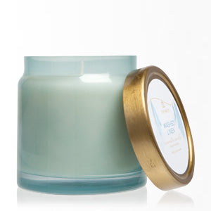 THYMES WASHED LINEN LARGE CANDLE