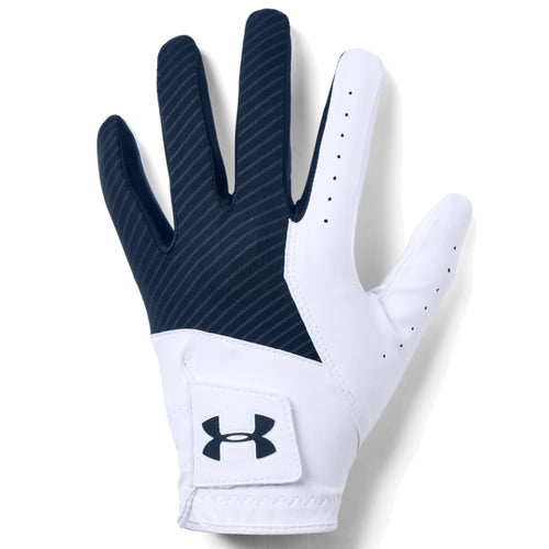 UA MEDAL GOLF GLOVE - WHITE/NAVY