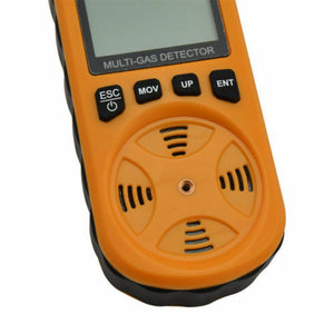 Handheld 4 in 1 Gas Detector CO O2 H2S Combustible Oxygen Tester Monitor Tool