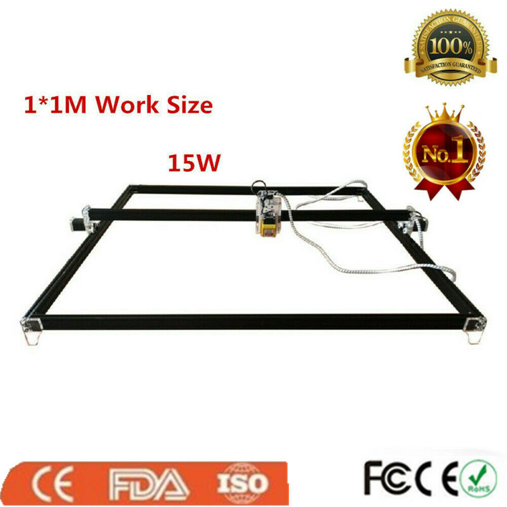 15W CNC Laser Engraver Metal Marking Carved Machine Wood Cutter 100x100cm Tool