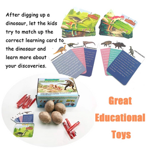 30pc x Dig it Up Dinosaur Egg Novelty Chiseling 12 Dino Eggs and Discover Fossils Model Children Educational Toy