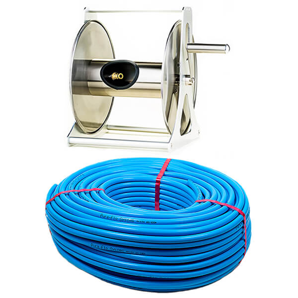 Stainless Steel Hose Reel with 100m Hose